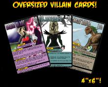 Sentinels: Oversized Villain Cards